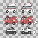 救急車、消防車、AE86(ハチロク)