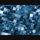 青いモザイクな空間