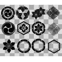 和の紋様 ブラシ素材詰め合わせ1