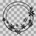 【丸フレーム枠】16 雪の結晶1
