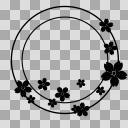 【丸フレーム枠】25 桜1