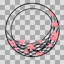 【丸フレーム枠】27 桜3