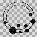 【丸フレーム枠】28 八重桜1