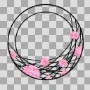【丸フレーム枠】30 八重桜3