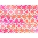 【背景素材】麻の葉1(紅)【和風】